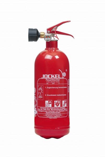 Jockel 2 Liter Dauerdruck Fettbrandlöscher / Haushaltslöscher F2JM5 40F MIT HALTER