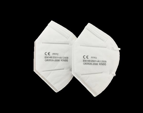 Mundschutz - Schutzmasken - Einwegmasken / 2 Stück / KN95